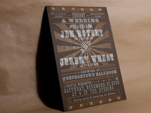 Wheat Wedding Invitations