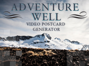 Adventure Well Postcard Generator